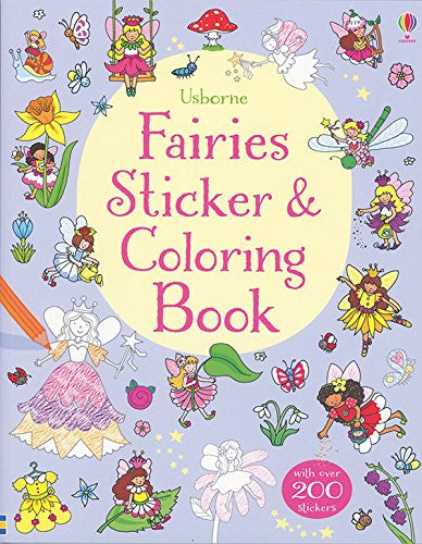 Fairies Coloring and Sticker Book by C. Cottrell and R. Finn
