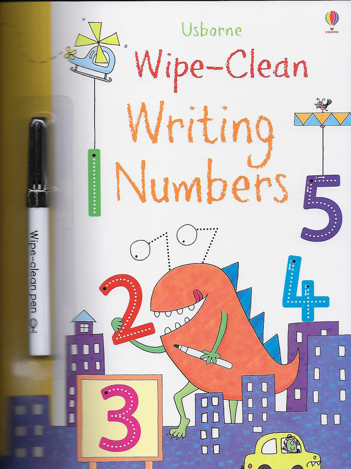 Writing Numbers Wipe Off Activity Book