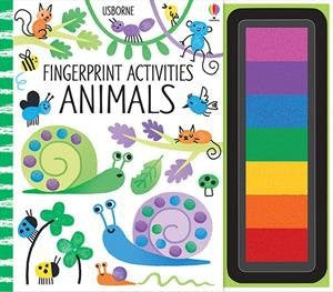 Fingerprint Activities Animals Spiral-bound