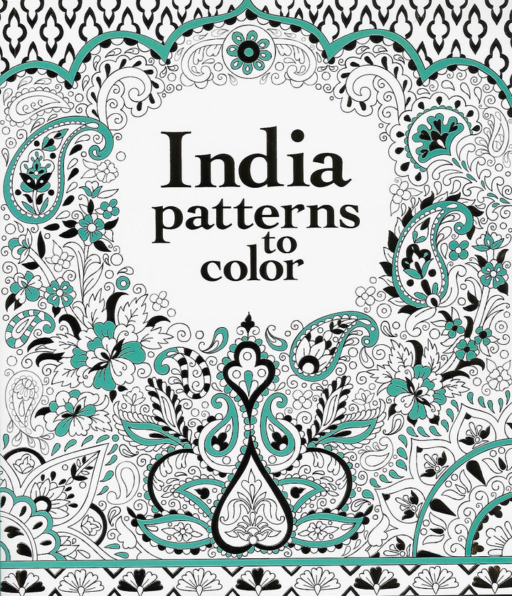 India Patterns to Color Coloring Book