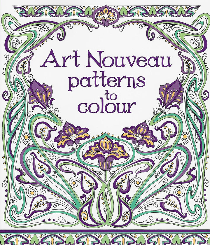 Art Nouveau Patterns to Color Coloring Book