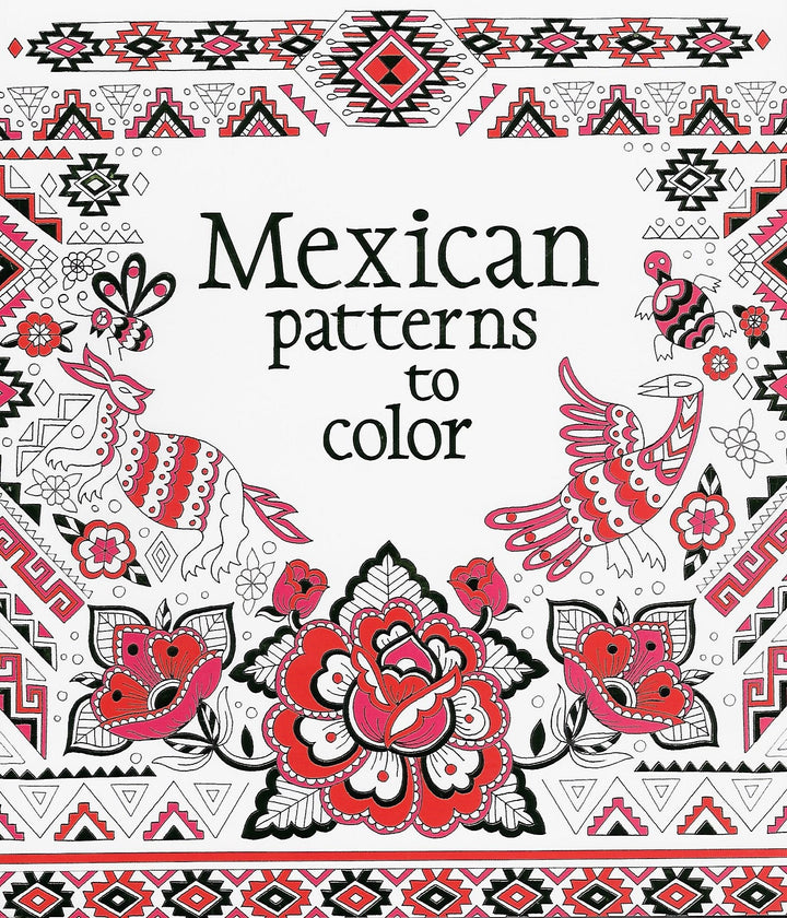 Mexican Patterns to Color Coloring Book