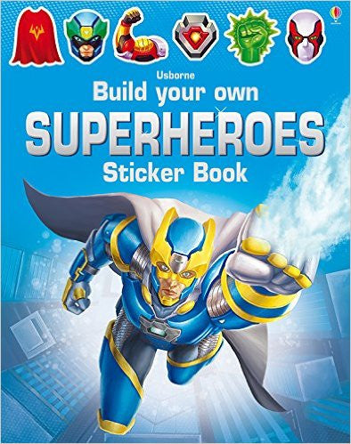 Build Your Own Superheroes Sticker Book Paperback