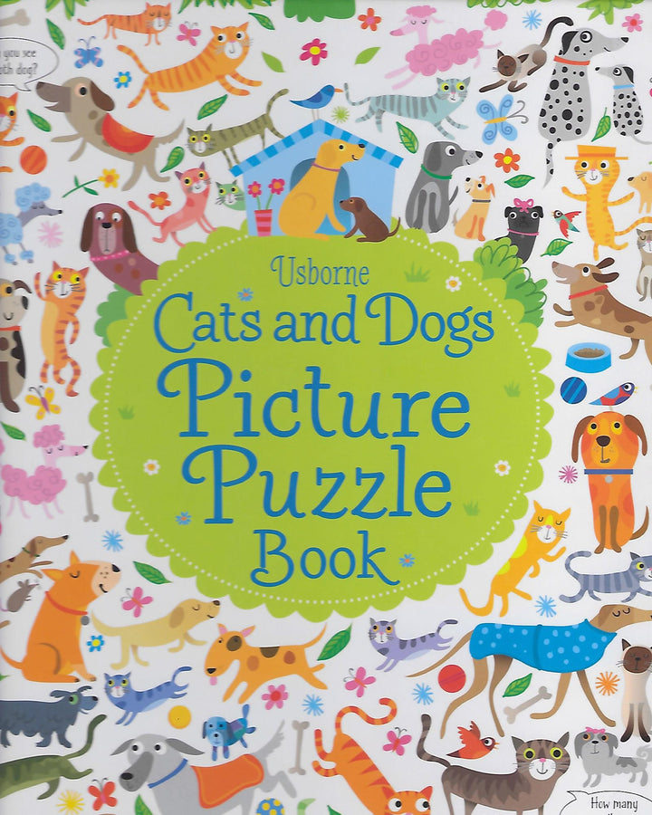 Cats and Dog Picture Puzzle Book Board Book