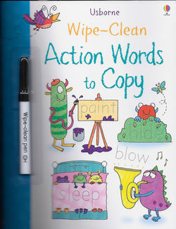 Action Words To Copy Wipe Clean