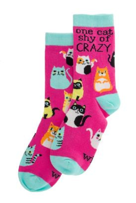 Wit! Cats One Size Socks