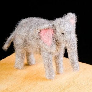 Elephant Wool Needle Felting Craft Kit by WoolPets