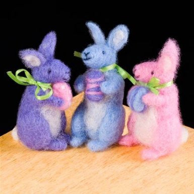 WoolPets Felting Spring Bunnies Kit