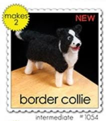 Woolpets Border Collie Wool Needle Felting Craft Kit -Intermediate Level