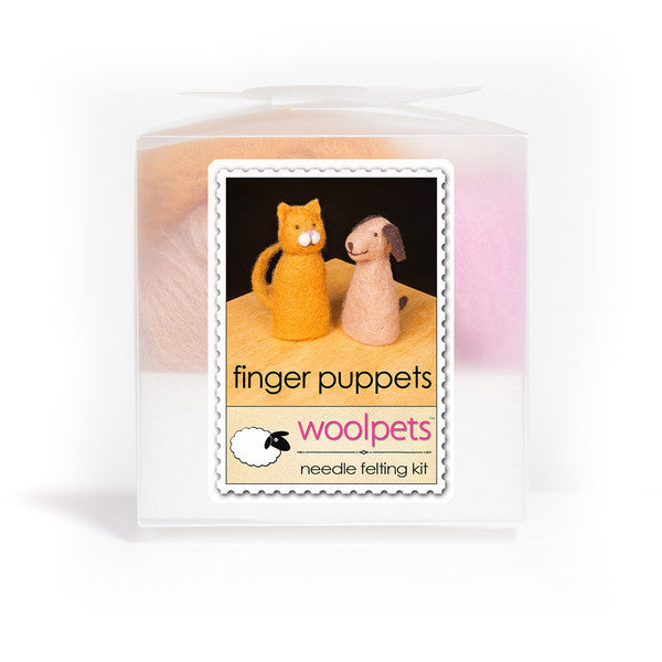 WoolPets Finger Puppets Needle Felting Kit