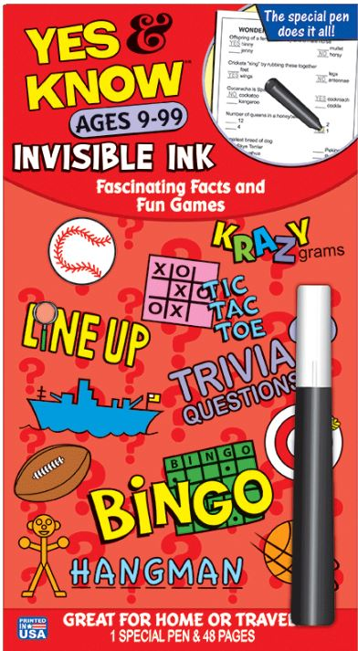 Yes & Know  Invisible Ink Trivia & Game Book-Ages 9-99