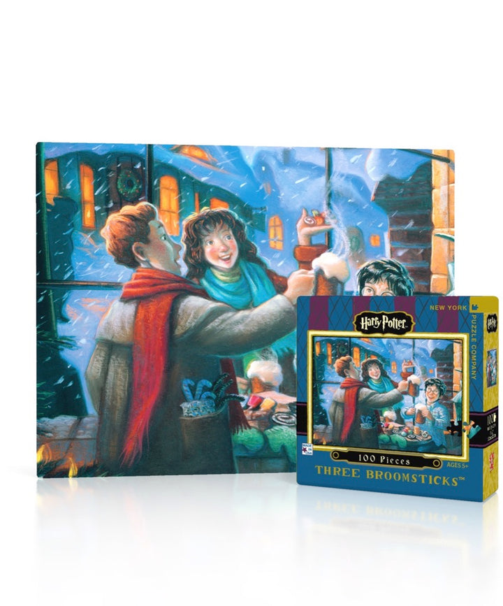 New York Puzzle Company - Three Broomsticks Mini Puzzle