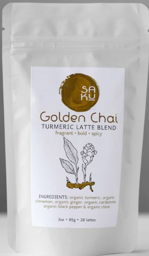 Saku Tea Golden Chai Tea-3oz Bag