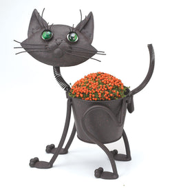 Georgetown Metal Animal Kitten Planter