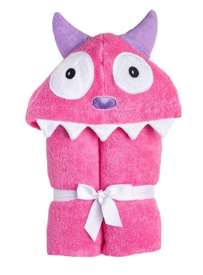 Yikes Twins - Monster Pink hooded towel