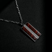 The Stamos Necklace | Red Tiger Eye