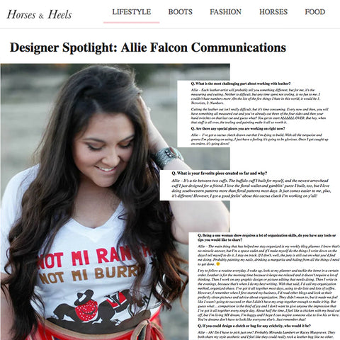 Allie Falcon Designer Interview