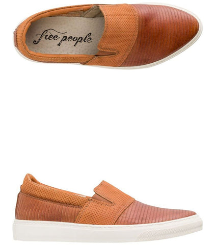 Free People Leather Slide On Sneakers