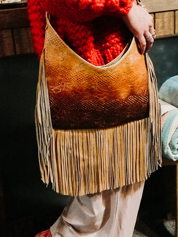 Ombre Snake Hobo Bag