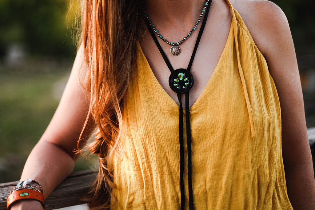 Black Naja Bolo Necklace