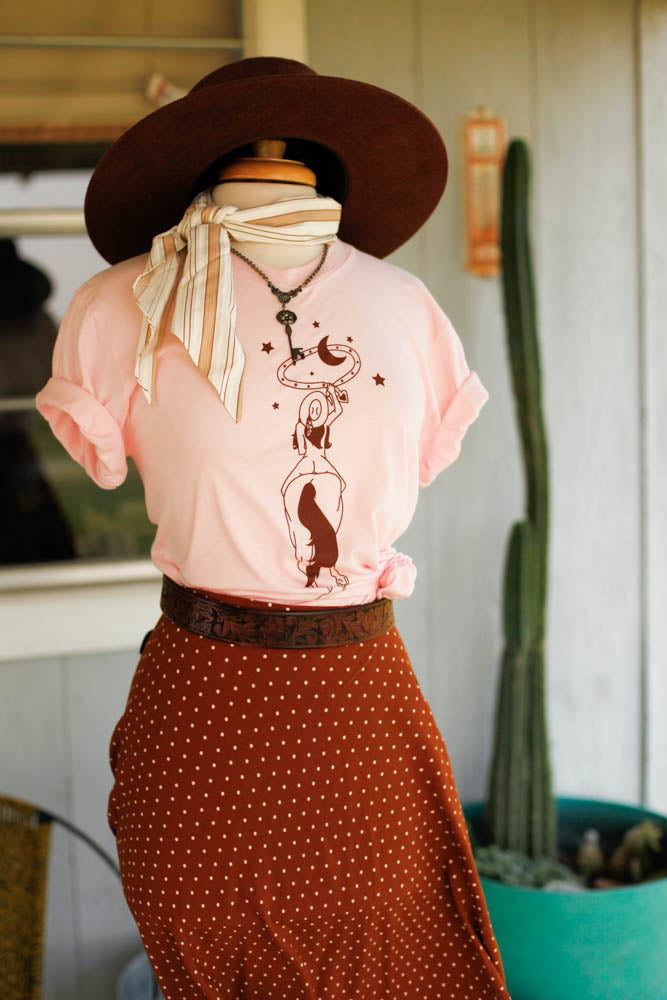 retro cowgirl tee