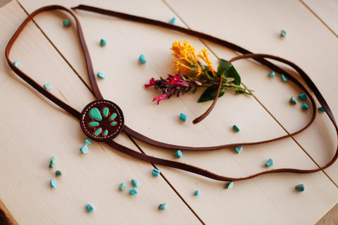 Brown Naja Bolo Necklace