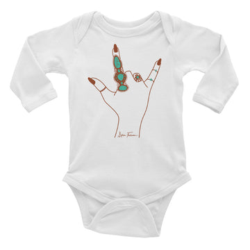 Love Language Long Sleeve Onesie