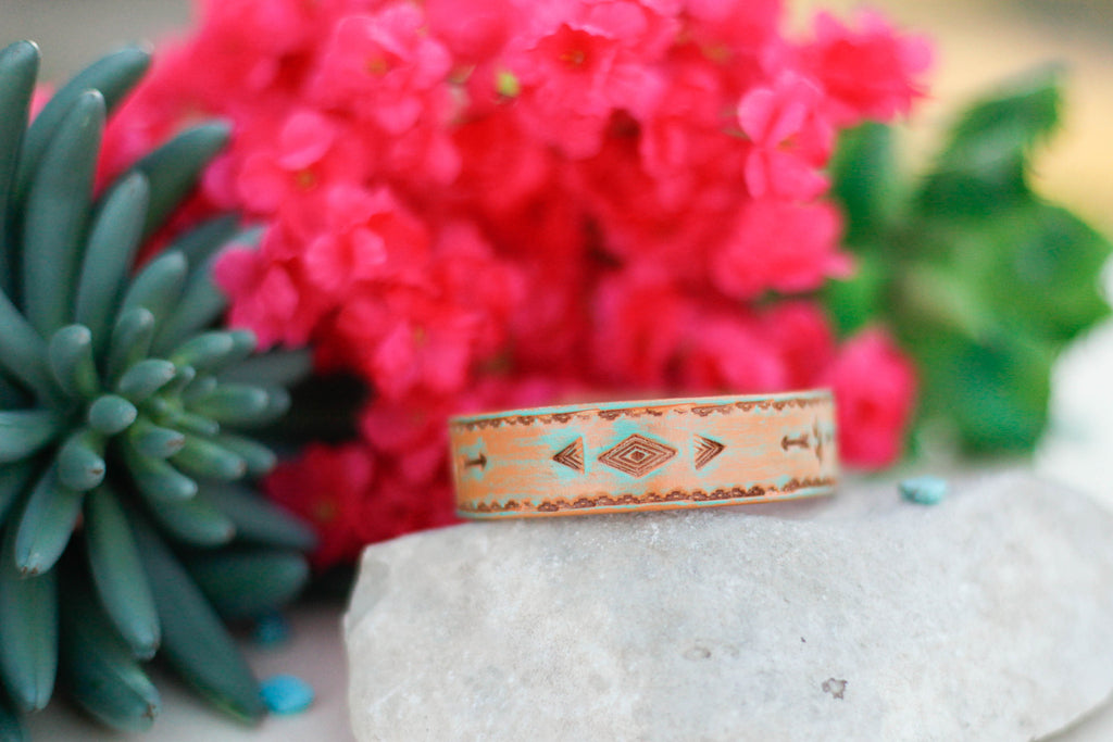 Cactus & Diamond Bangle