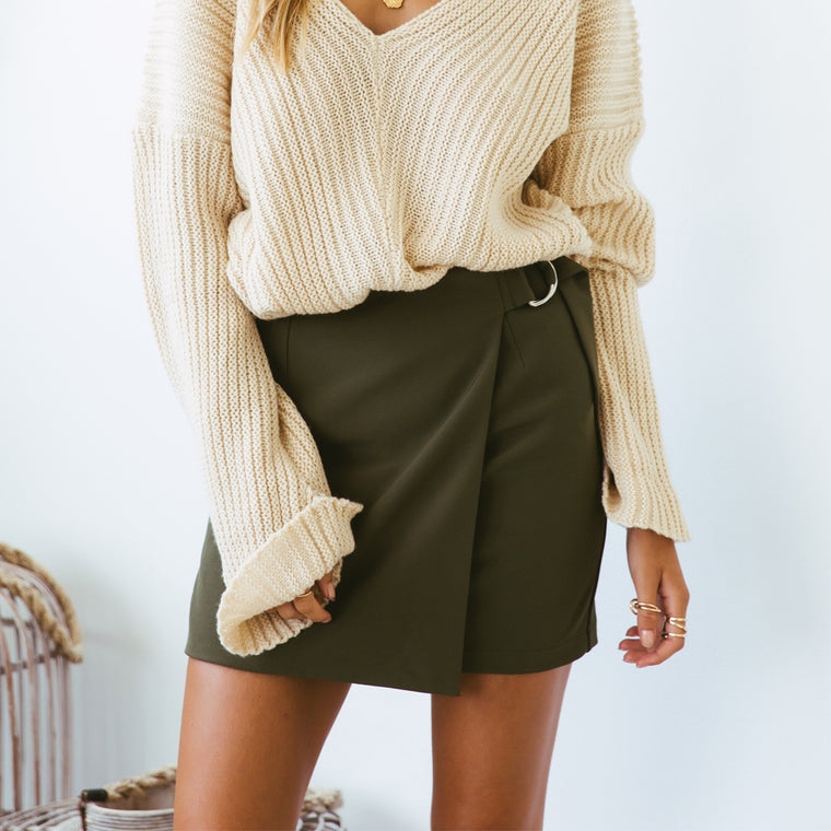 Frenchy Skirt - Khaki