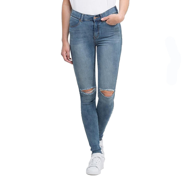 Lexy Jeans - Light Stone - Ripped