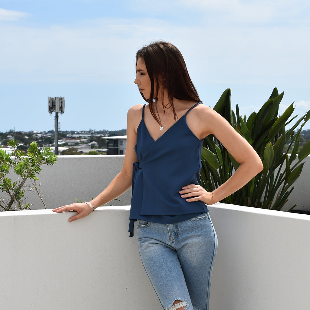 Lila Top - Navy