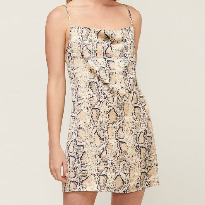 Power Play Mini Dress - Snake Print - Friday Clothing Company