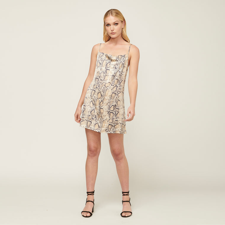 Power Play Mini Dress - Snake Print