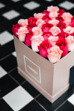 The Alice - 36 Fresh Blush and Fuchsia roses