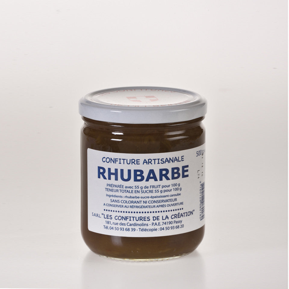Les Confitures De La Creation - Confiture de Rhubarbes  - 500g