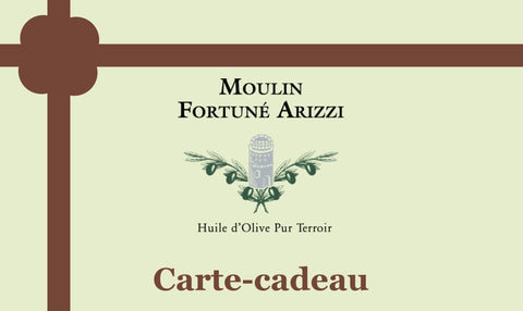 Carte-cadeau du Moulin Fortuné Arizzi