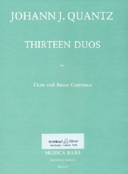 Quantz - 13 Duos for Flute and Basso continuo