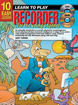 10 Easy Lessons LTP Recorder for Young Beginners Bk/CD/DVD