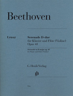 Beethoven - Serenade in D major, Op. 41 for Flute and Piano (Henle)