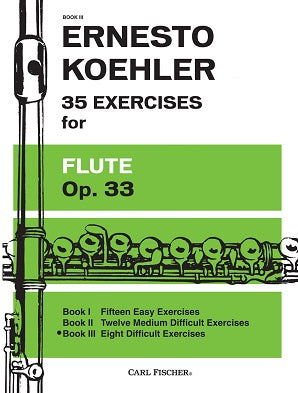 35 Exercises for Flute Op 33 Book 3 No 28-35