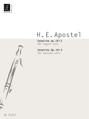 Sonatina for Bassoon Op 19 No 3, Hans Erich Apostel