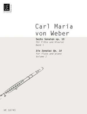 Weber, Carl Maria von -Six Sonatas Op 10 for Flute and Piano Volume 1 (universal)