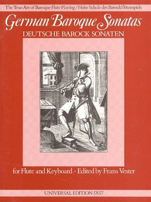 German Baroque Sonatas for Flute and Keyboard Ed Vester (Universal)