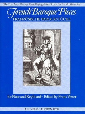 French Baroque Pieces for Flute and Keyboard Ed Vester (Universal)