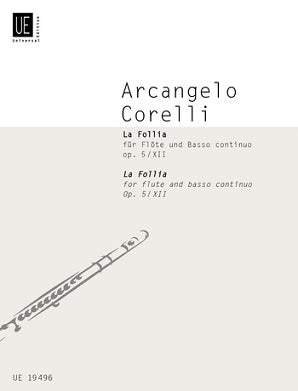 Corelli Arcangelo - La Follia For Flute and Basso Continuo Op 5 No 12