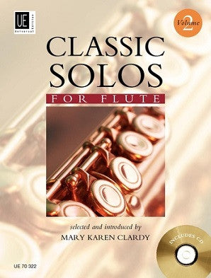 Classic Solos for Flute 2 Book/CD (Universal)