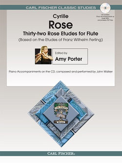 Ferling - 32 Rose Etudes for Flute Bk/Cd