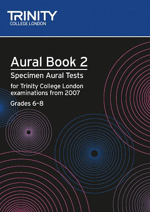 Trinity Aural Tests from 2007 Grades 6-8 Book/CD