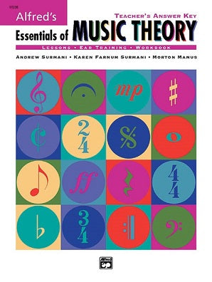 Alfred's Essentials of Music Theory: Teacher's Answer Key Bk/CD