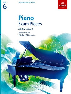 ABRSM Piano Exam Pieces Gr 6 2019-2020 Book